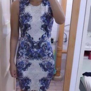 Amazing ASOS Asian Tattoo Print Scuba Dress New 6!